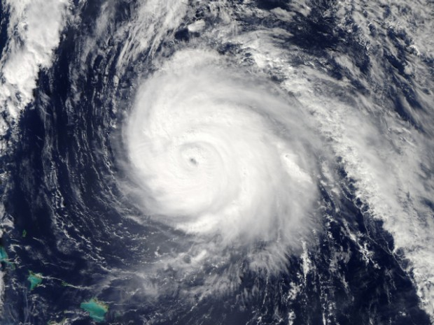 Image satellite du cyclone Pam